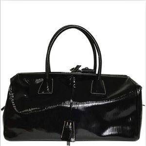 100% Authentic Prada patent leather Boston bag.